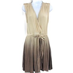 Mystree Brown Ombré Sleeveless Dress Size S